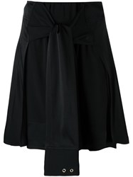 Paco Rabanne Tie Front Skirt Black