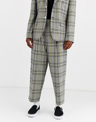 Noak Drawstring Trousers In Yellow Check