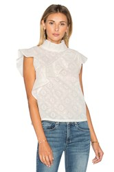 Mcguire Sorbonne Ruffle Top Ivory