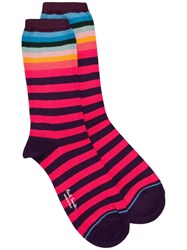 Paul Smith Ps By Gertrude Striped Socks Purple