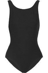 Rochelle Sara The Mae Ribbed Swimsuit Black