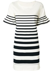 Chinti And Parker Bell Sleeve Dress White