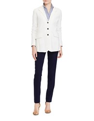 Lauren Ralph Lauren Solid Long Sleeve Jacket White