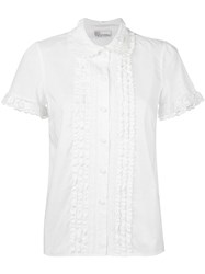 Red Valentino Lace Detail Shirt White