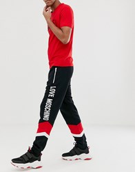 Love Moschino Panelled Joggers Black