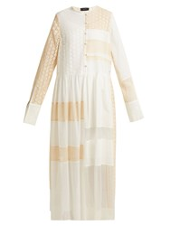 Joseph Odette Patchwork Broderie Anglaise Dress Cream Multi