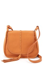 Hobo Brio Leather Crossbody Bag White Whiskey