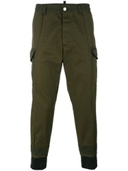 Dsquared2 Cropped Length Trousers Green