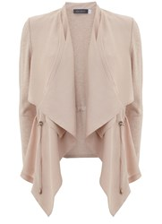 Mint Velvet Nude Cipro Front Cardigan Pink