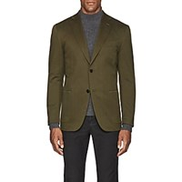 Eidos Wool Cotton Two Button Sportcoat Olive