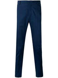 Al Duca D'aosta 1902 Tailored Trousers Men Cotton Spandex Elastane 46 Blue