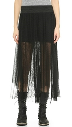 Free People Sugar Plum Tutu Skirt Black Combo