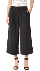 Tibi Double Waist Cropped Pants Ivory Black Multi