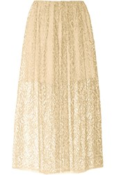 Adam By Adam Lippes Lace Midi Skirt White