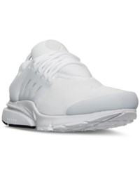 Nike Men's Air Presto Essential Running Sneakers From Finish Line White White Black