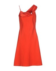 Martine Sitbon Dresses Knee Length Dresses Women Red