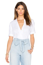 7 For All Mankind Cross Front Top White