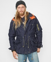 Denim And Supply Ralph Lauren Contrast Hood Nautical Jacket Heritage Navy