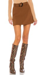 Nicholas Mini Skirt In Brown. Walnut