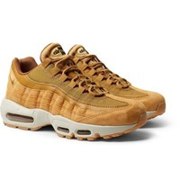 Nike Air Max 95 Se Mesh Leather And Suede Sneakers Camel