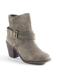 Bcbgeneration Aries Suede Booties Olive Green