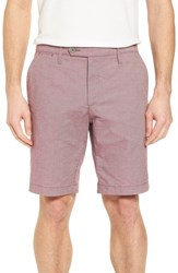 Ted Baker London Herbott Stretch Cotton Shorts Pink