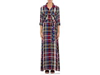 L'agence Women's Cassie Plaid Flannel Shirtdress Red