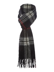Howick Wool And Cashmere Check Scarf Black
