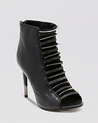 Dolce Vita Open Toe Booties Hexx High Heel Black
