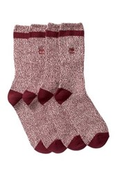 Timberland Marled Crew Socks Pack Of 2 Red