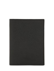 Pineider 720 Medium Leather Card Holder Black