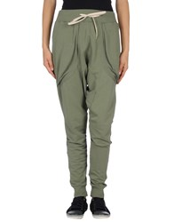 Minimal Trousers Casual Trousers Women Military Green