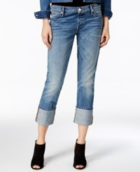 True Religion Liv Dj Blues Wash Relaxed Cuffed Jeans Djdm Blues