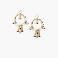 J.Crew Dangling Bell Hoop Earrings White