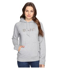 Obey Flora Liberte Hoodie Heather Grey Women's Sweatshirt Gray