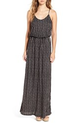 Lush Women's Knit Maxi Dress Taupe Floral