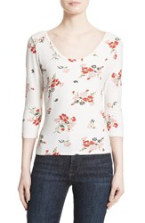 Rebecca Taylor Women's Marguerite Floral Jersey Tee