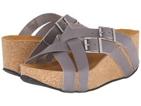Eric Michael Joan Grey Women's Wedge Shoes Gray