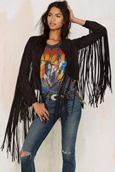 Nasty Gal Shake Down Fringe Jacket