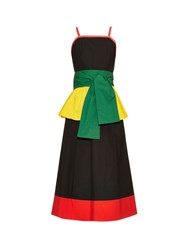 Isa Arfen Colour Block Peplum Waist Dress
