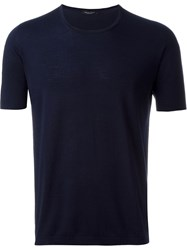Roberto Collina Knit T Shirt Blue