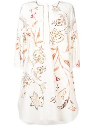 Dorothee Schumacher Embroidered Flared Dress White