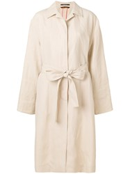 Paul Smith Turn Up Cuffs Coat Nude And Neutrals