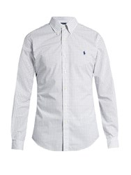 Polo Ralph Lauren Grid Print Slim Fit Cotton Shirt White Multi