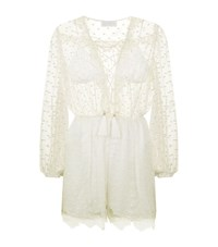 Zimmermann Orleander Lace Trim Playsuit Female White