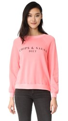Wildfox Couture Chips And Salsa Sweatshirt Peach Crush