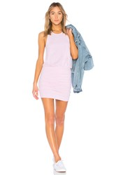 Sundry Ruched Tank Dress Pink