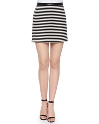 Alexander Wang Twisted Striped Mini Skirt Black And White