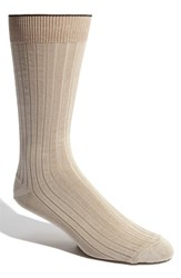 Men's Big And Tall Nordstrom Cotton Blend Socks Taupe