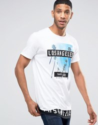 Pull And Bear Pullandbear T Shirt In White With La Print White